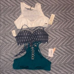 Bundle of swimsuits tops NWT